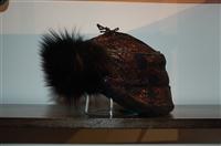 Black No Label Trapper Hat, size O/S