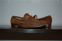 Chocolate Suede Gucci Loafer, size 7.5