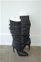 Black Leather Casadei Boots, size 9