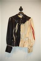 Black & Cream Yves Saint Tropez - Vintage Blouse, size M