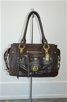 Ebony Coach Satchel, size L