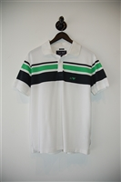 Summer White Armani Jeans Polo, size L