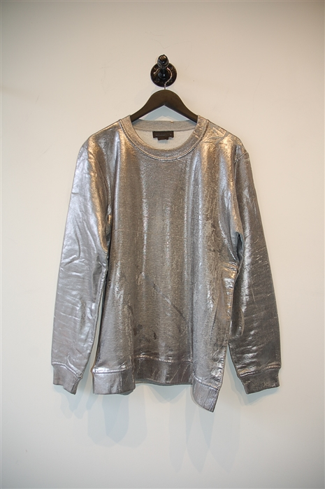 Metallic Silver Diesel - Black Gold Sweatshirt, size XL