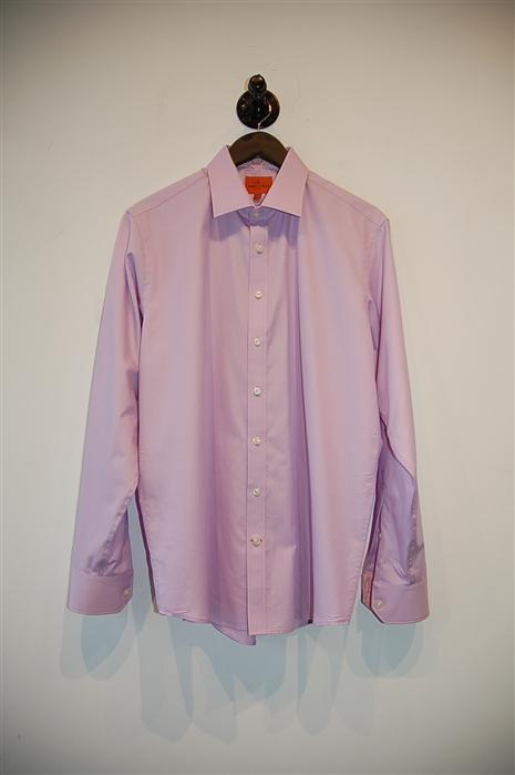 Lilac Simon Carter Button Shirt, size L