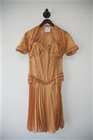 Gold Vicky Tiel - Vintage Dress with Jacket, size S