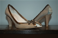 Silver Tod's Peep-Toe, size 8.5