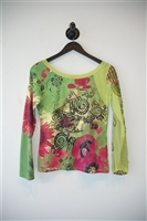 Floral Save the Queen Pullover, size M