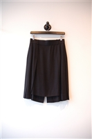 Basic Black Chanel Pleated Skirt, size 6