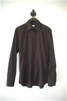 Basic Black Alexander McQueen Button Shirt, size L