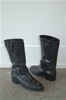Black Leather Tod's Boots, size 6.5