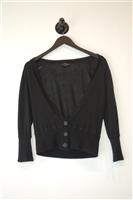 Basic Black No Label Cardigan, size M