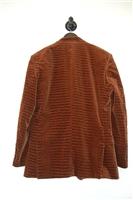 Brown Velvet Roberto Cavalli Blazer, size 44