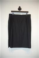 French Navy Akris Straight Skirt, size 14