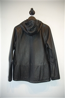 Black Leather Theory Leather Jacket, size M