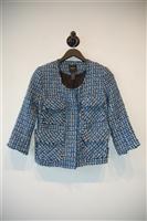 Blue Tweed Smythe Jacket, size 2