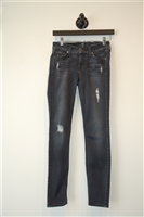 Faded Black 7 For All Mankind Skinny Jean, size 24