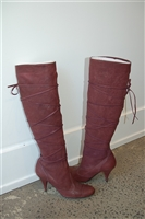Burgundy No Label Boots, size 8.5