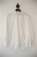 Soft White Alessandro Gherardeschi Button Shirt, size M