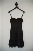 Satin Black BCBG Maxazria Cocktail Dress, size 0