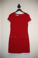 Deep Red Prada Tunic Dress, size 2