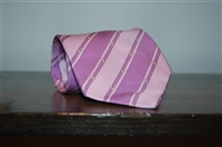 Purple Stripe Hermes Tie, size O/S