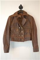 Aged Leather BCBG Maxazria Leather Jacket, size 4