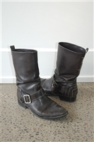 Black Leather Tod's Boots, size 7.5