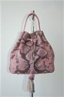 Snakeskin Vitoria Napoli Bucket Bag, size S
