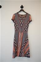 Geometric BCBG Maxazria Sweater Dress, size M