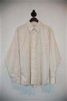 Cream Balmain Button Shirt, size L
