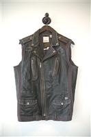Black Leather Diesel Leather Vest, size L