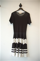 Black & White No Label A-Line Dress, size M