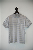 Gray Stripe Dior Homme Polo, size S