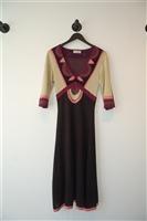 Colour Blocked Temperley London Midi Dress, size M
