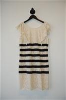 White & Black BCBG Maxazria Sheath Dress, size 12