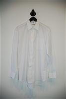 Bright White Balmain Button Shirt, size M