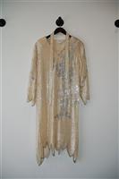 Cream No Label - Vintage Shift Dress, size M
