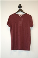 Burgundy Iro Short-Sleeved Top, size XS