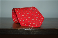Bright Red Hermes Tie, size O/S