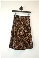Mixed Browns Betsey Johnson Straight Skirt, size XS