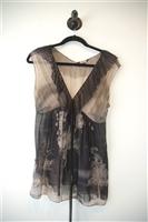 Black & Beige Rozae Nichols Sleeveless, size XS