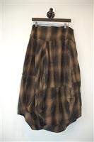 Brown Tartan Ivan Grundahl Bunched Skirt, size M