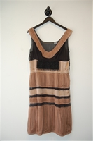 Black & Beige Alberta Ferretti Shift Dress, size 10
