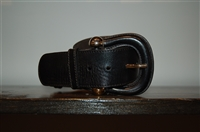 Black Leather Burberry Belt, size S