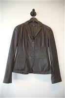 Ebony Hugo Boss - Boss Black Leather Jacket, size S