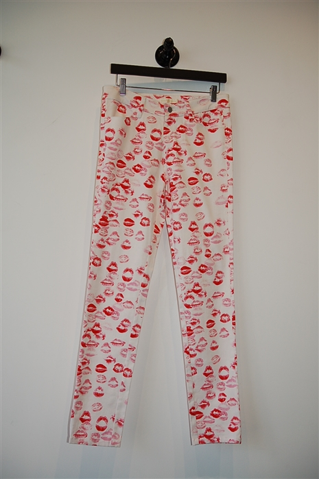 Print Erin Fetherston Skinny Pant, size 6