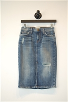Faded Denim Current / Elliott Denim Skirt, size XS