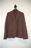 Brown Stripe Gucci Suit Jacket, size 6