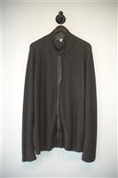 Gray Stripe Armani Collezioni Cardigan, size L