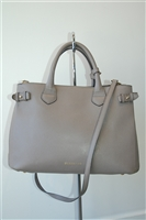 Taupe Burberry Tote, size M